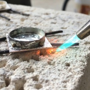 soldering band to sheet